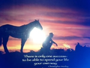 There is only one Success ~ to be able to spend your life your own way.  Christopher Morley