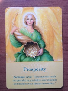 Prosperity Angel Card