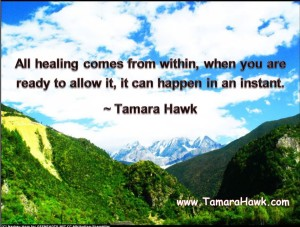 healing comes from within