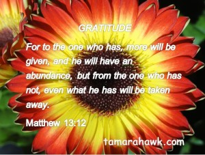 he who has gratitude